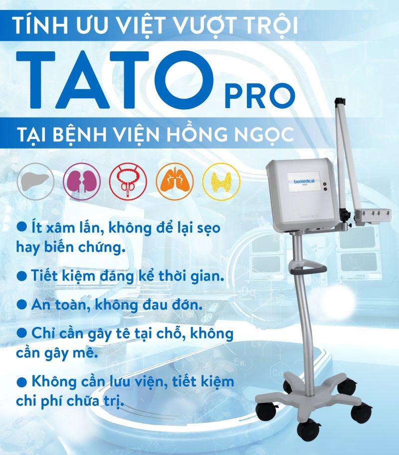 Đốt u lành tính bằng vi sóng TATO có nhiều ưu điểm so với các phương pháp khác