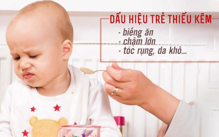 Dấu hiệu thiếu kẽm ở trẻ em