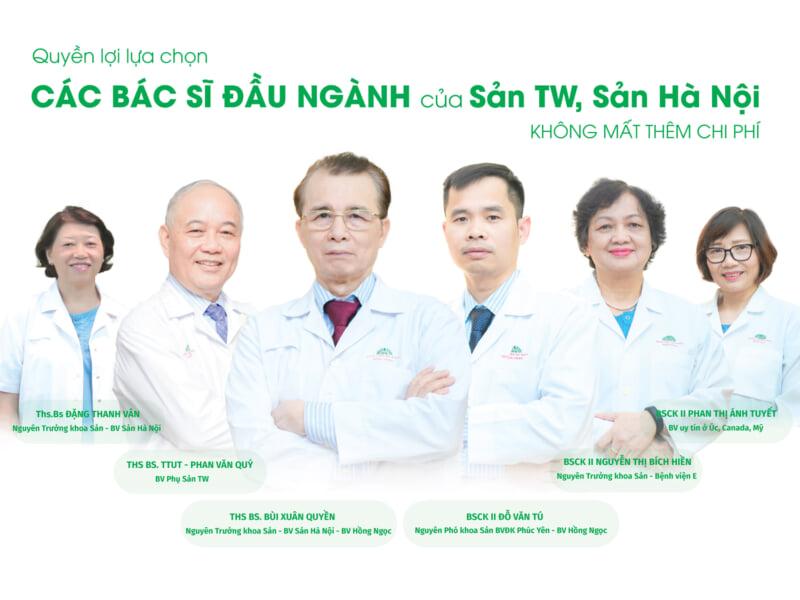 Đội ngũ bác sĩ Sản khoa được tin tưởng tại Bệnh viện Đa khoa Hồng Ngọc Mỹ Đình