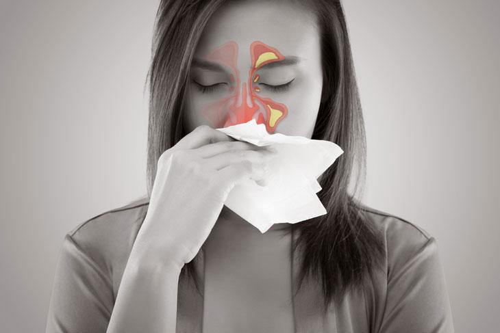 dịch mũi chảy xuống họng